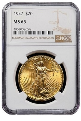 NGC MS65 1904 Gold Eagle 400